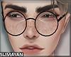 Nerdy Glasses Black