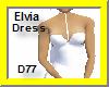 Elvia Short Dress-Wht/bk