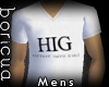 [B] HIG Mens White T