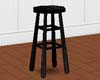 Simple Black Barstool