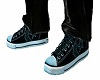 Converse teal shoes