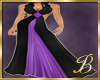 black and purple gown