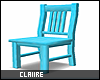 C|Neon Blue Chair