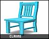 C|Neon Blue Chair