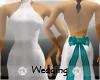 Wedding Dress Teal Bow