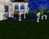 Royal Blue Wedding Aisle