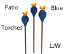 LJW Patio Torches Blue