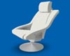 KD White Leather Chair