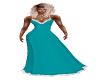 Teal Snow Dress