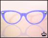 Purple Cateye Glasses