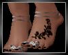 Jeweled Feet+tattoo