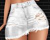 White Ripped Skirt L