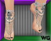 Jeweled Anklets Onyx