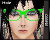 :C: Lime Nerd Glasses M