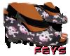 (F)Skull Wedge Heels