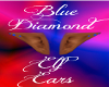 Blue Diamond Elf Ears