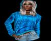 [bamz]Cozy Aqua Sweater