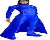 blue pvc tranch coat