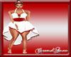 Red & White Halter Dress