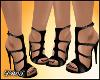D- Liz Black Sandals