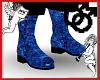 Blue Sequin Boots