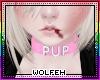 ♡ pink pup collar