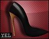 [YH] Golden/ black heels