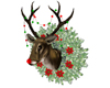 Rudy Deer Head Wreath