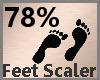 Feet Scale 78% F