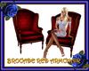 Red Brocade Armchair