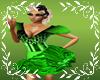 mikagreen fluff dress