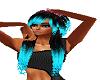 blk teal emo hair w/pink
