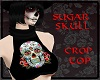{RB}SUGAR SKULL CROP TOP