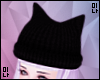 M| Black Kitty Ear Hat