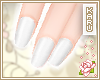 [KA] Glossy White Nails