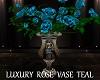 Luxury Rose Vase Teal
