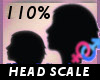 Head Scale 110 % -F-