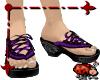 Babouche Sandals- Purple