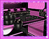 pink club couch w/chairs