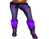 pruple pants n boots