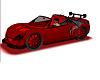 Red Car W/ Neon Lights-M