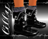 Blac boots and socks