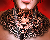 Lion Tattoo Neck