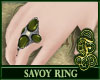 Savoy Ring Green