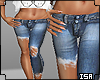 half denim shorts