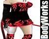 BBW Flaming Devil Dress