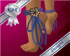 Ankle Ribbons Blue