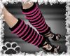 ~Pink striped leg warmer
