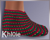 K xmas socks F