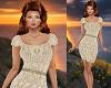 TF* Cream Lace Dress